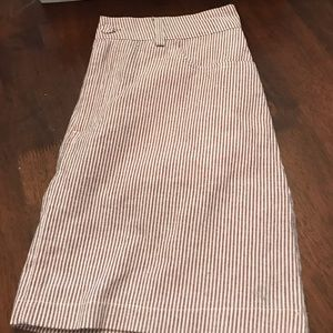 NWOT lightweight striped skirt